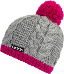 Dámská zimní pletená čepice Eisbär Kiana Pompon MÜ