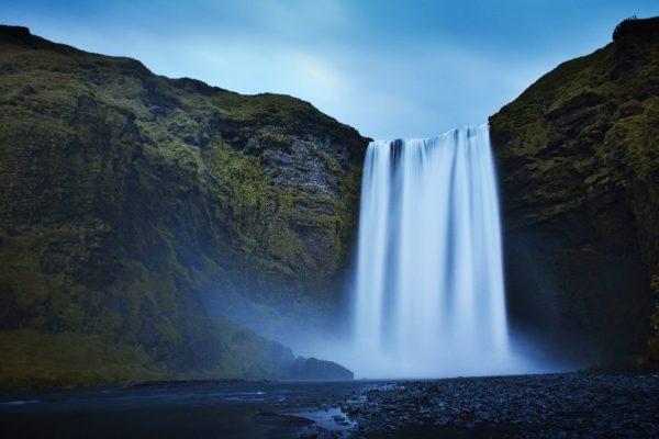 Island vodopád Skógafoss. Foto: www.cksen.cz