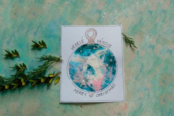 Vyrobte si originální vánoční přáníčko, které použijete i jako vánoční ozdobu