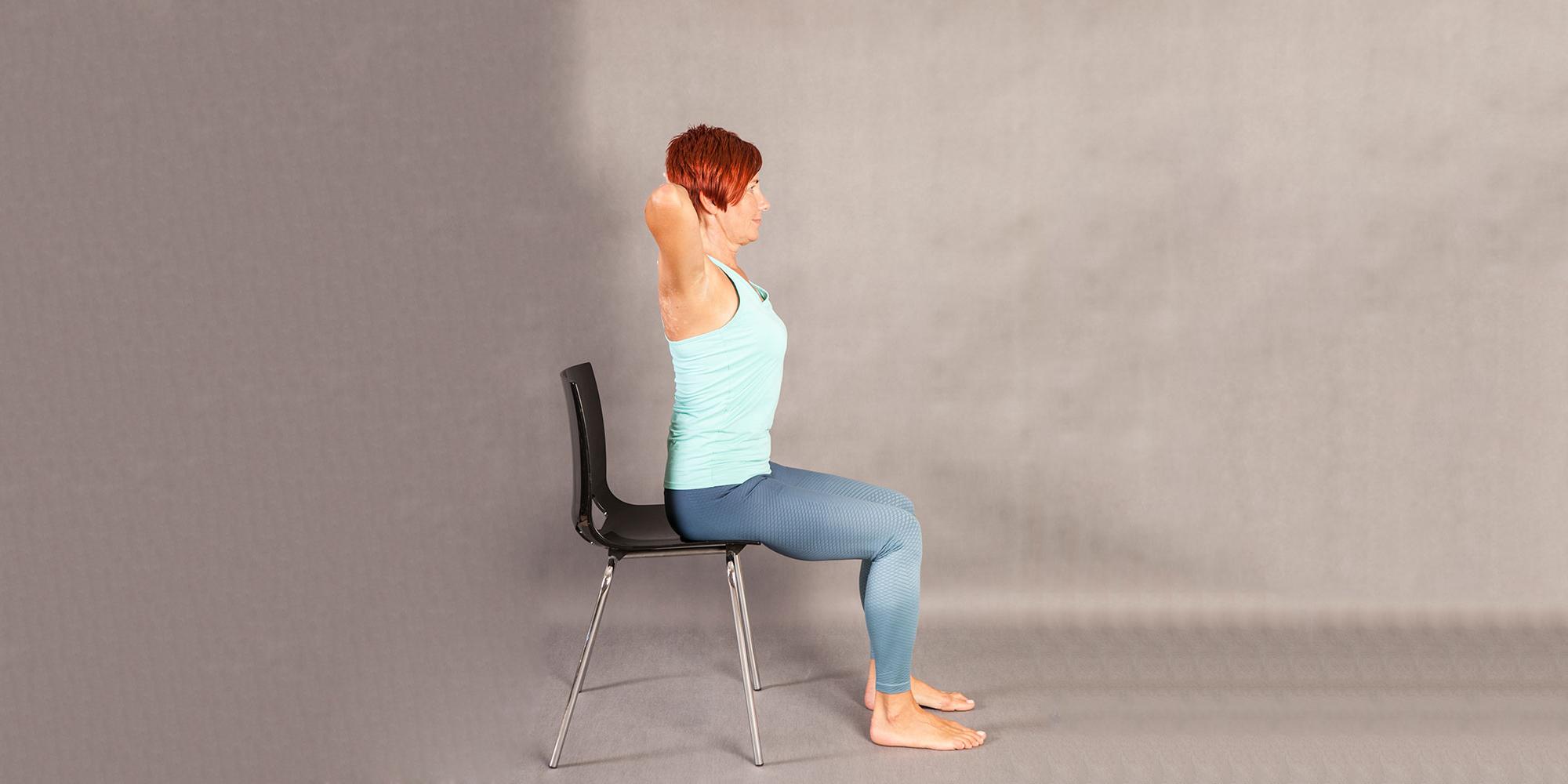 Fit pain free - Sit to Stand Weight  základní pozice