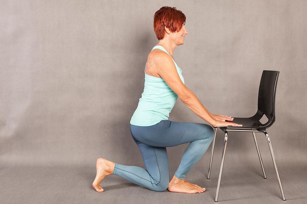 Fit pain free - Assisted Runner Stretch základní pozice