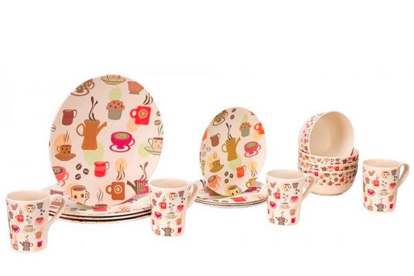 Sada ekologického nádobí pro 4 osoby od značky Vango. Foto: www.4camping.cz