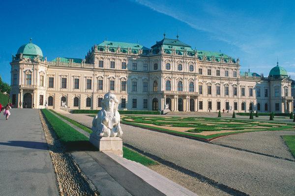 Belvedere Palace ve Vídni. Foto: Osterreich werbung, photographer -Diejun