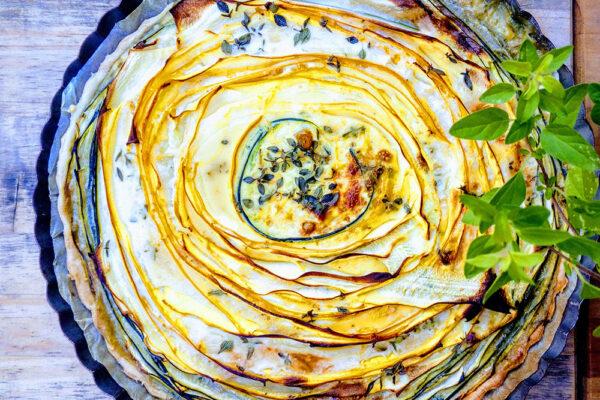 Slaný cuketový koláč dvou barev. Foto: Lucie Rosenbergerová