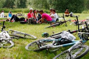 Společné vyjížďky na kole