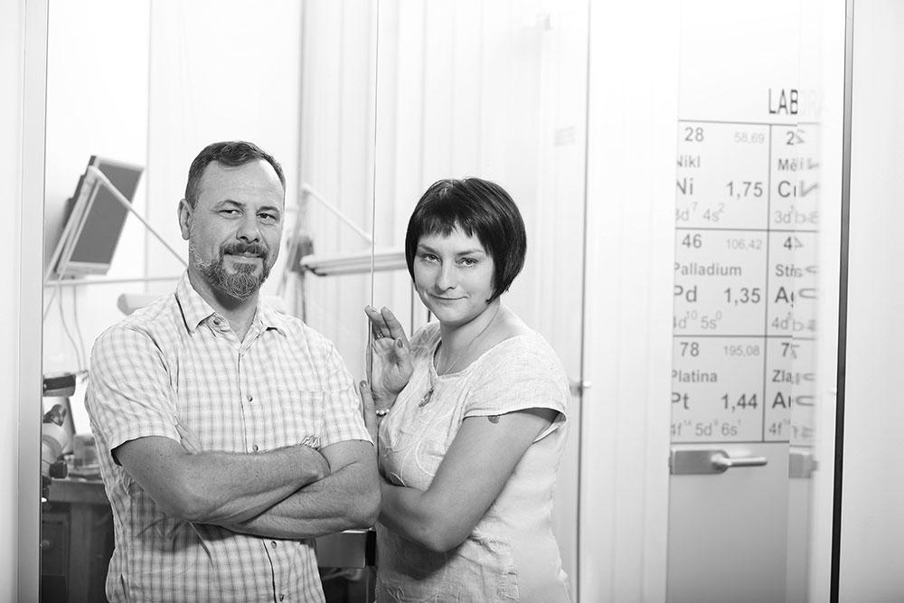 Ester Engelová a Marek Odstrčil