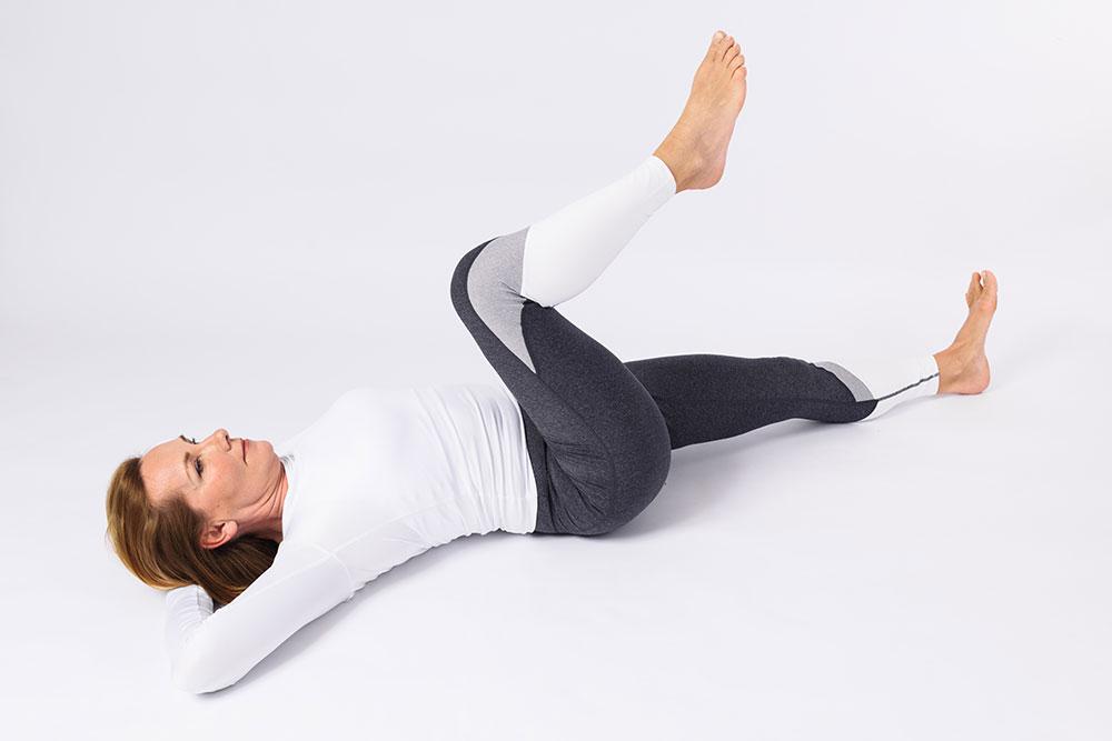 FitPaiFree - cvik pro kyčle – Supine knee circles