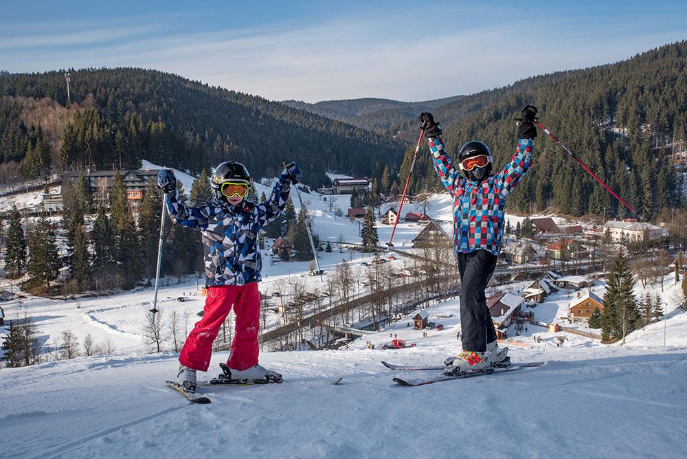 Ski areál Velké Karlovice - sjezdovka Razula