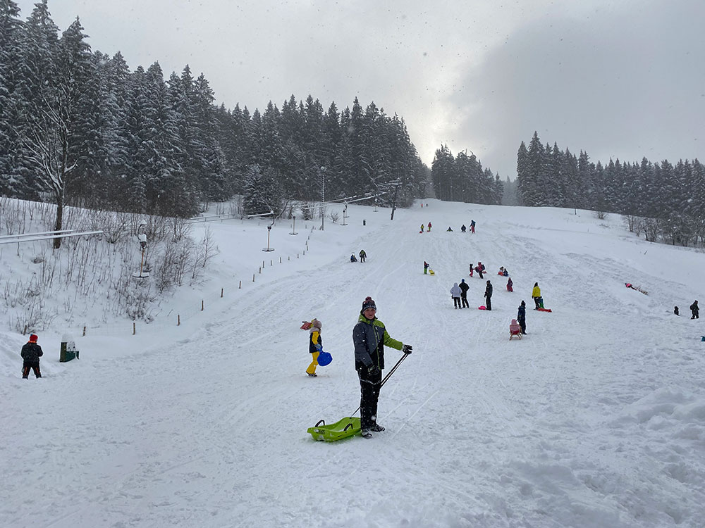 Velké Karlovice - sjezdovka Razula
