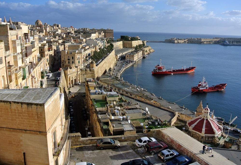 Malta přístav Valetta