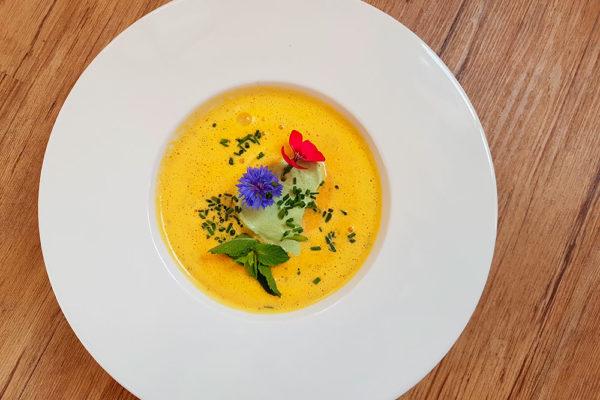 Mrkvová polévka podle receptu Françoise Thuille. Foto: www.nebespan.cz