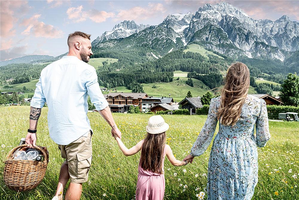 Naturresort Puradies v rakouském Leogangu v Salzbursku
