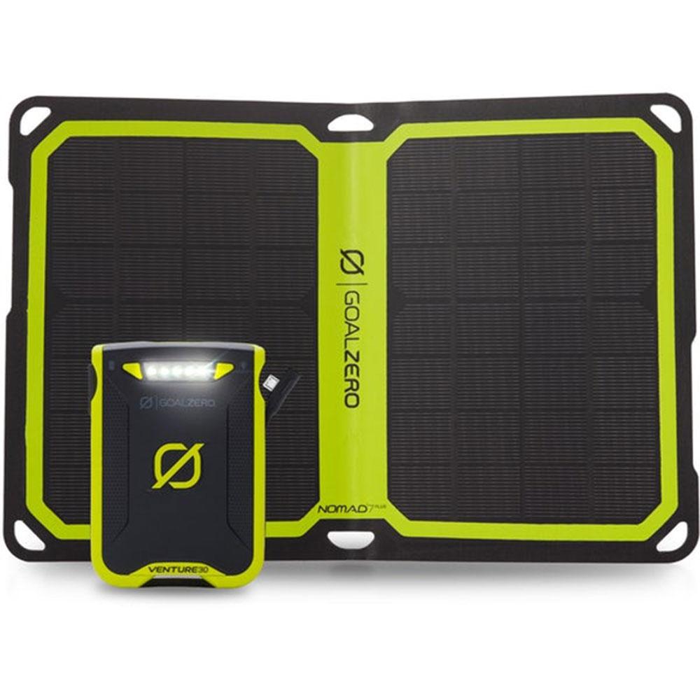Set záložního ultralehkého akumulátoru Venture 30 a solárního panelu Nomad 7 Plus