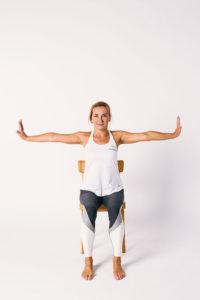 Sitting forearm stretch both