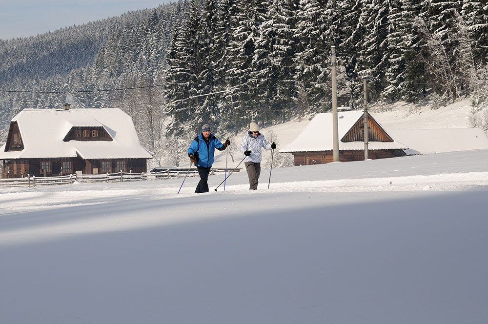 Běžkování na Valašsku
