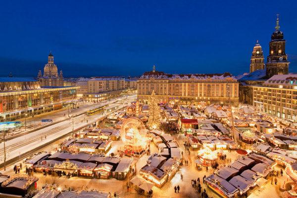 Vánoční trhy v Drážďanech. Foto: www.eurolines.cz